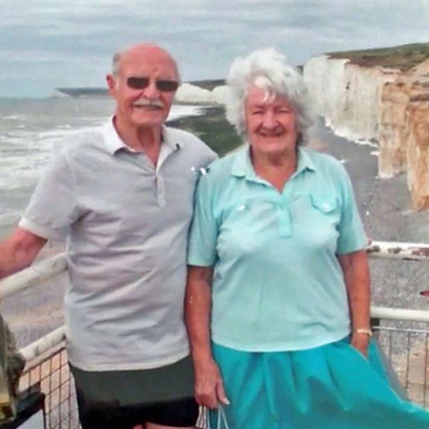 Джек и его жена Одри у их любимых скал