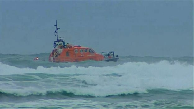 9cff5e3e741 Image caption Three people died last year after getting into into trouble  in a rip current at Mawgan Porth