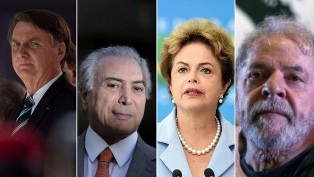 Bolsonaro, Temer, Dilma e Lula