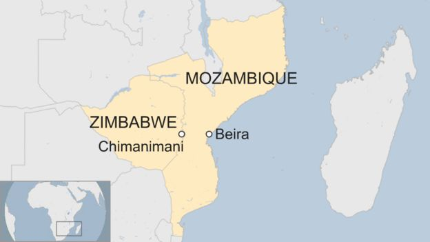 Map Of Africa Zimbabwe.Cyclone Idai Many Dead In Zimbabwe And Mozambique Bbc News