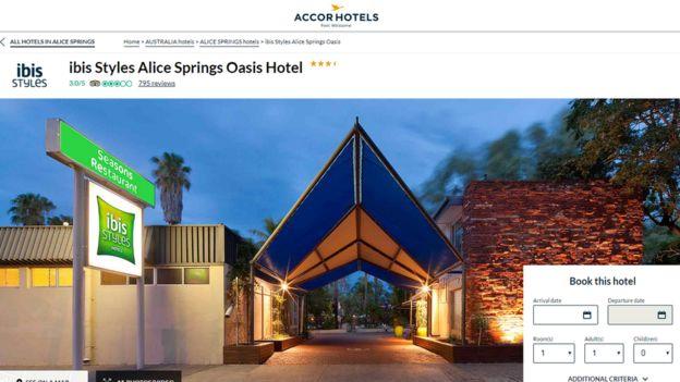 Screenshot taken from Accor website