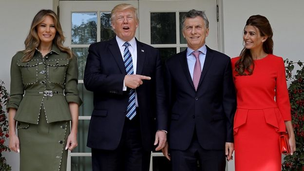 Macri, Trump, Melania, Juliana