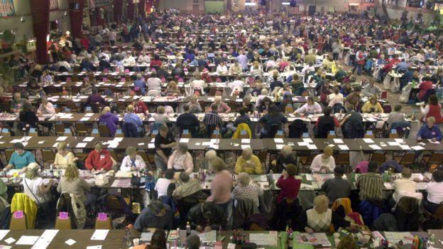 Una sala de bingo en EE.UU.