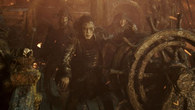 Javier Bardem (centre) in Pirates of the Caribbean: Dead Men Tell No Tales