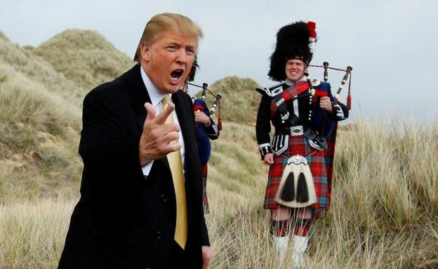 Donald Trump en Escocia.