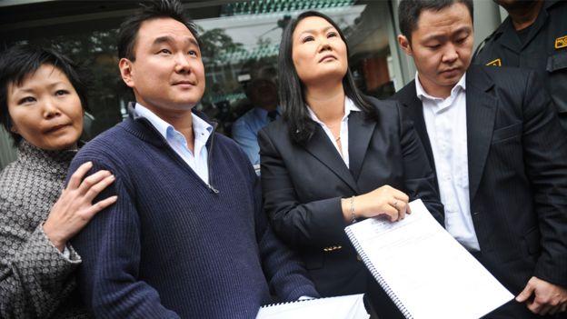 Los hijos de Alberto Fujimori (de izquierda a derecha): Sachi, Hiro, Keiko y Kenji.