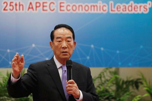 宋楚瑜在記者會上表示,台灣代表團這次相當盡力。
