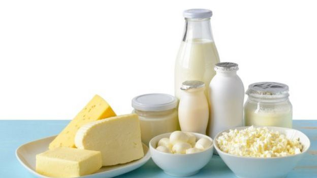 Alimentos à base de leite