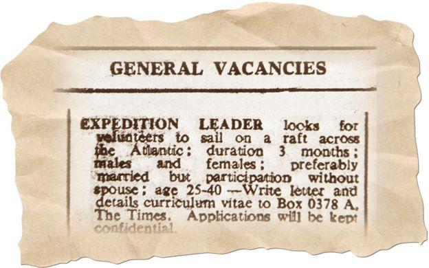 Anuncio publicado en el diario The Times 6/4/1973