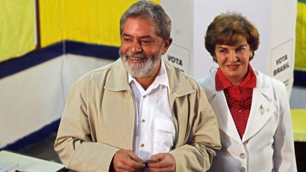 Lula e Marisa em 2006