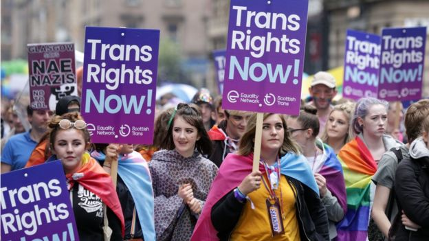 Trans rights protesters