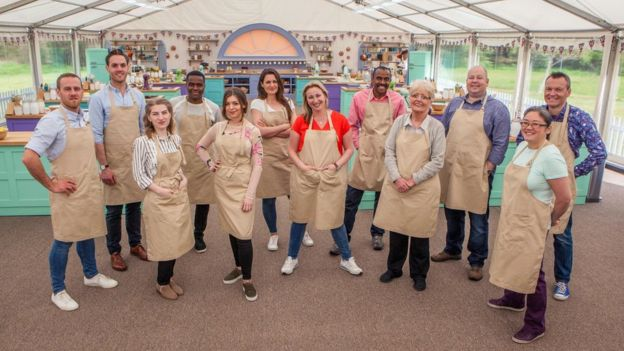 The contestants taking part in Bake Off