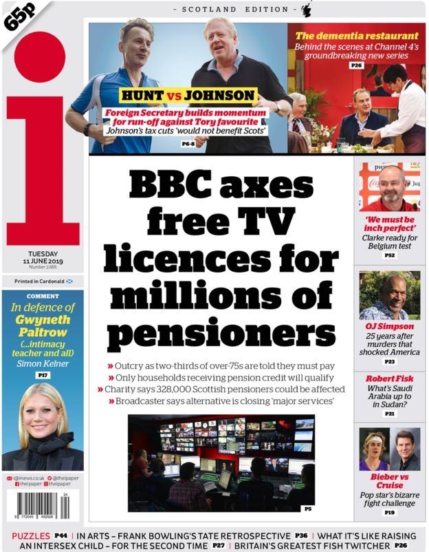 Image result for bbc pensioners subscriptions scotland