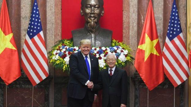 Ông Trump đã có buổi gặp với Chủ tịch nước, Tổng bí thư Nguyễn Phú Trọng sáng 27/2