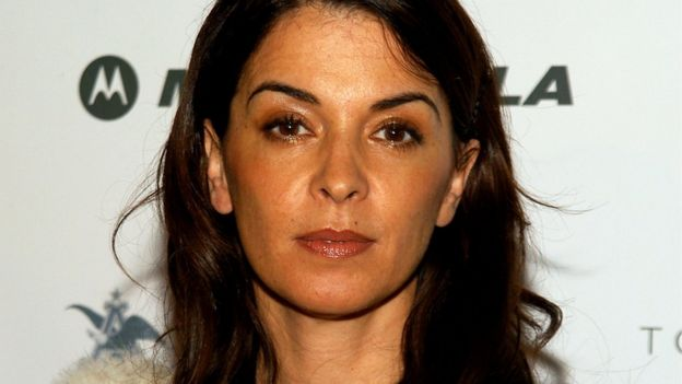 Annabella Sciorra pictured at a hip hop event in 2003