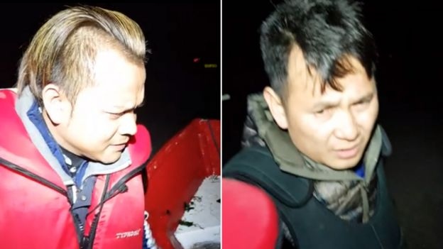 Tran Doan (left) and Tran Hoang