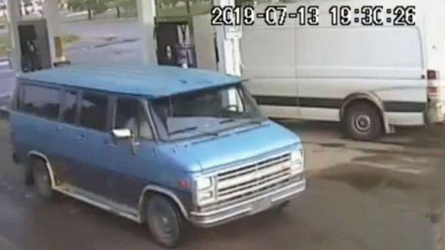 CCTV shows van belonging to the couple
