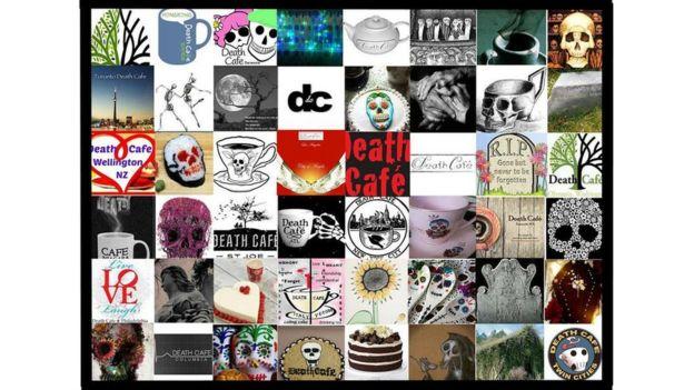 Collage de ilustraciones sobre los Cafés de la Muerte