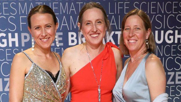Anne Wojcicki (left) and her sisters Janet Wojcicki, and Susan Wojcicki
