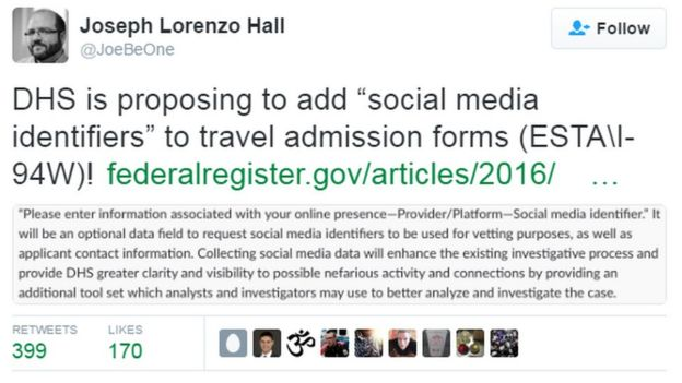 Joseph Lorenzo Hall tweet