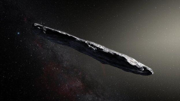 Ilustración de Oumuammua