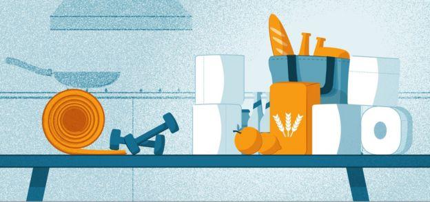 Ilustración de productos de hogar