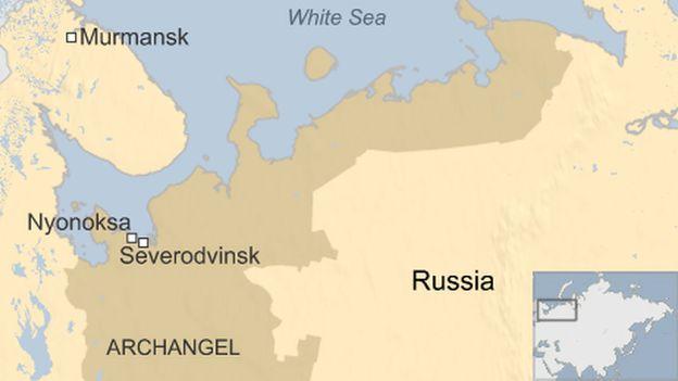 Map of Archangel region