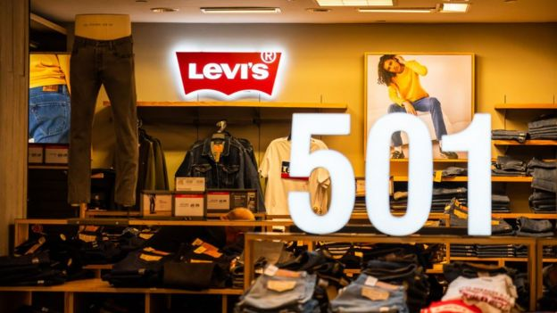 Levi's concession stand in Macy's department store in New York City