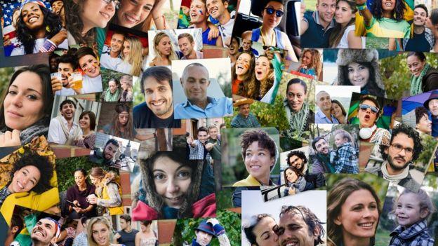 Fotos de mucha gente.