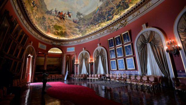 El Salón Elíptico del Capitolio venezolano.