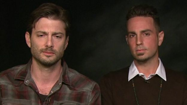 "James Safechuck y Wade Robson en el documental ""Leaving Neverland"" de Netflix."