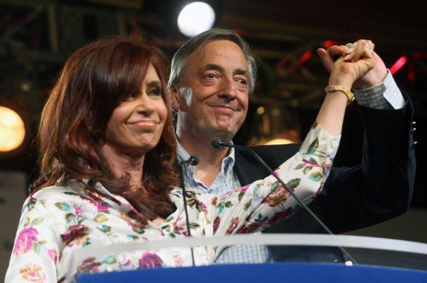 Cristina y Néstor Kirchner