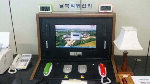 The North-South Korea hotline in the village of Panmunjom