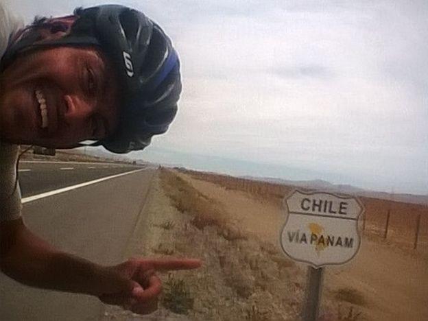 Carlos Santamaría en Chile