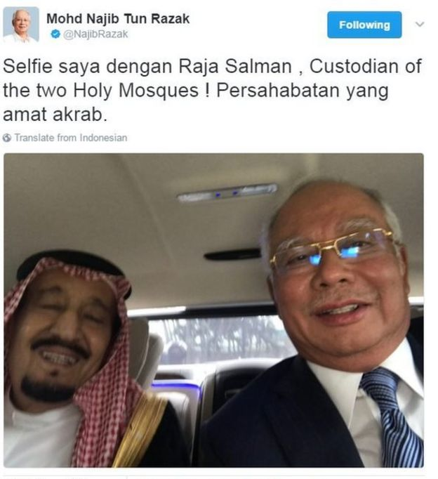 Image result for Najib's Selfie with King Salman