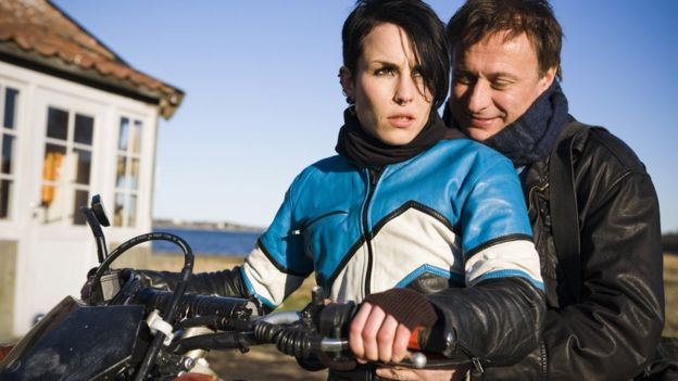 Noomi Rapace and Michael Nyqvist in The Girl with the Dragon Tattoo - 2009