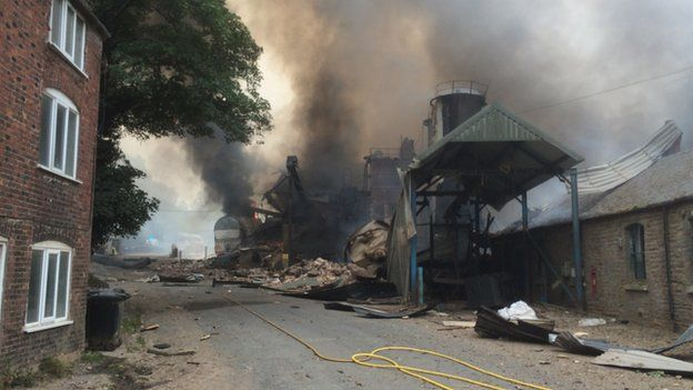 Bosley fire at wood mill
