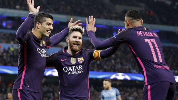 7057cce99fb Barcelona signs sponsorship deal with Rakuten - BBC News