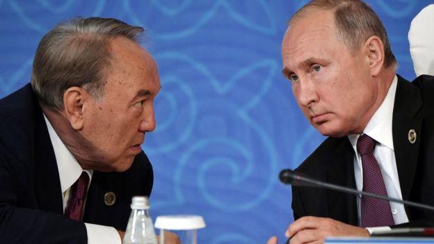 نظربایف و پوتین