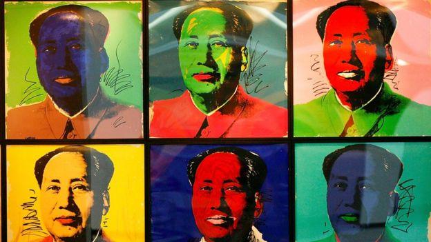 安迪·沃霍爾《毛主席》系列作品。