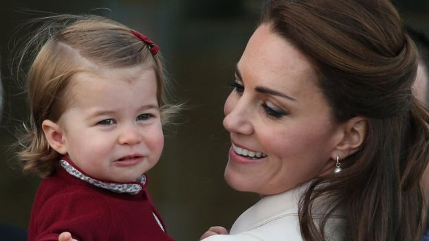 Princess Charlotte and the Duchess of Cambridge during the tour of Canada