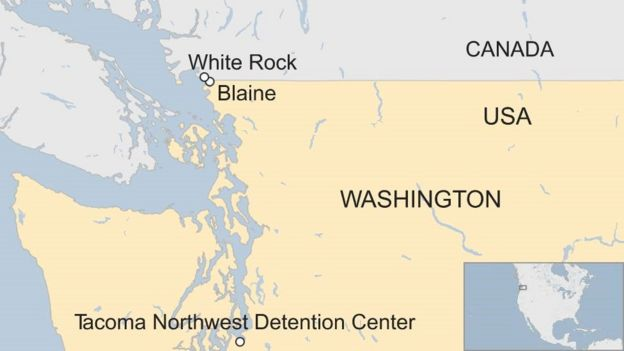 French Jogger Detained After Crossing Us Canada Border Bbc News - Us-canada-border-crossing-map-locations