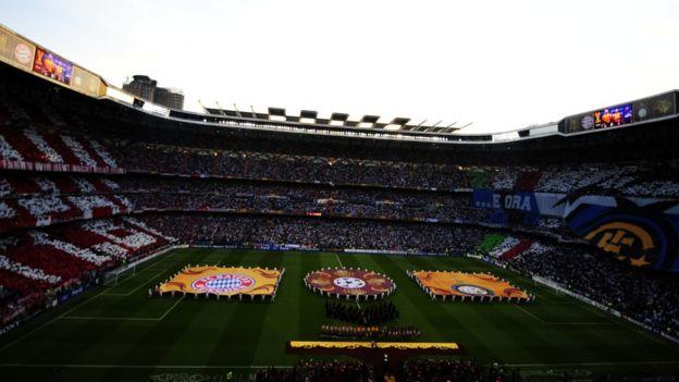 Panorámica del Santiago Bernabéu en 2010.
