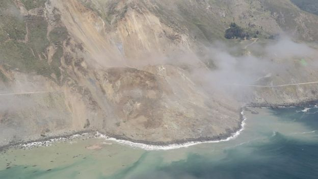 Massive rockslide wipes out swath of California's scenic coast road