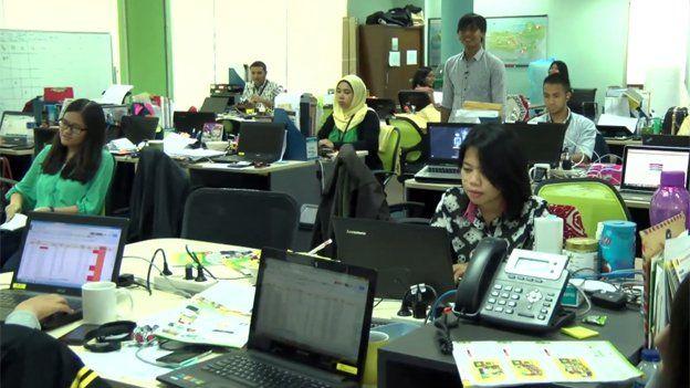 Staff at Ruma's head office