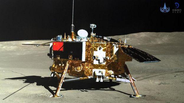 Imagem da sonda Chang'e 4 na Lua