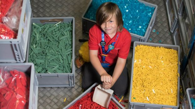 Stanley Bolland, 7, at Legoland Windsor