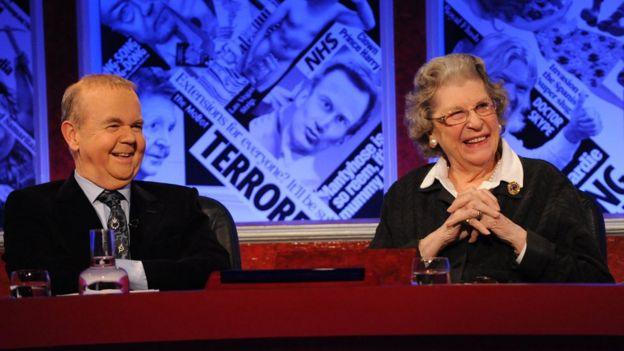 Ian Hislop and Lady Trumpington