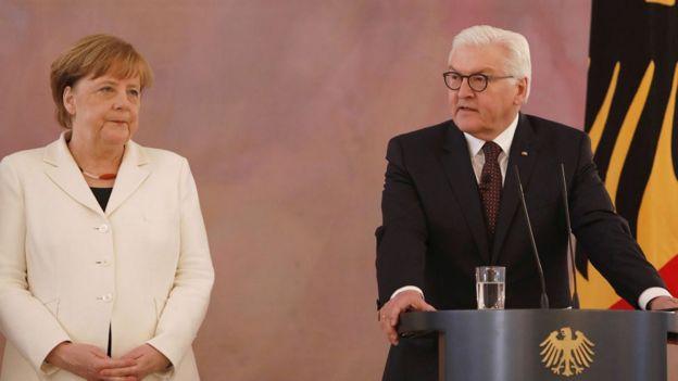 Ангела Меркель, Франк-Вальтер Штайнмайер