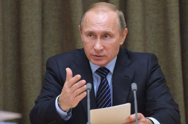 Vladamir Putin madaxweynaha Ruushka